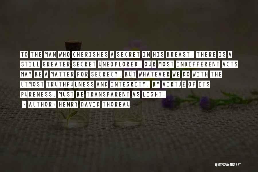 Secret Secrecy Quotes By Henry David Thoreau