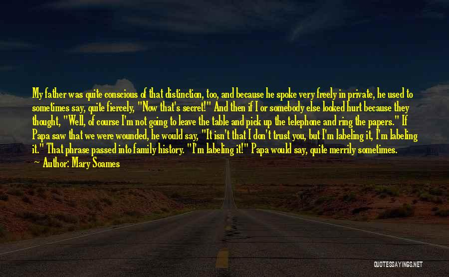 Secret Secrecy Quotes By Mary Soames