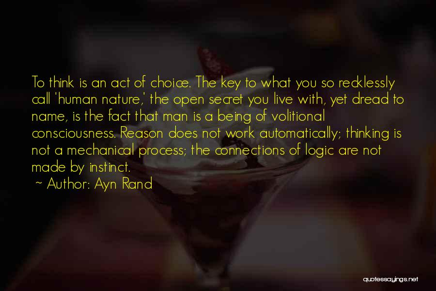 Secret Thinking Of You Quotes By Ayn Rand