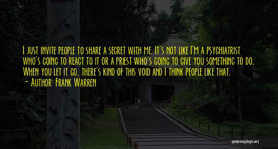 Secret Thinking Of You Quotes By Frank Warren