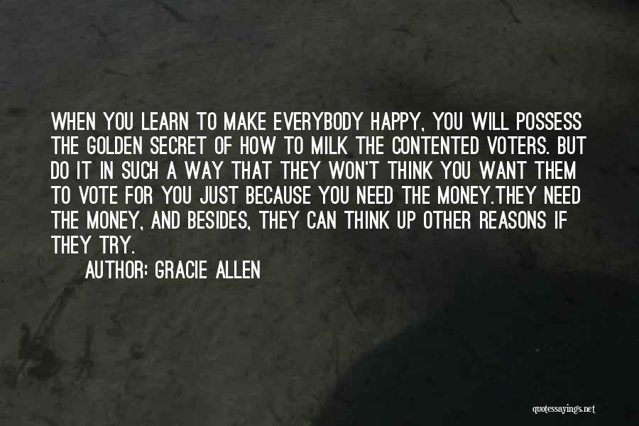 Secret Thinking Of You Quotes By Gracie Allen