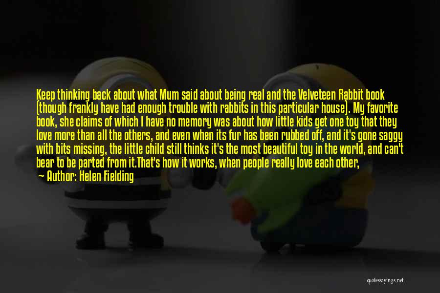 Secret Thinking Of You Quotes By Helen Fielding