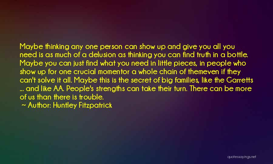 Secret Thinking Of You Quotes By Huntley Fitzpatrick