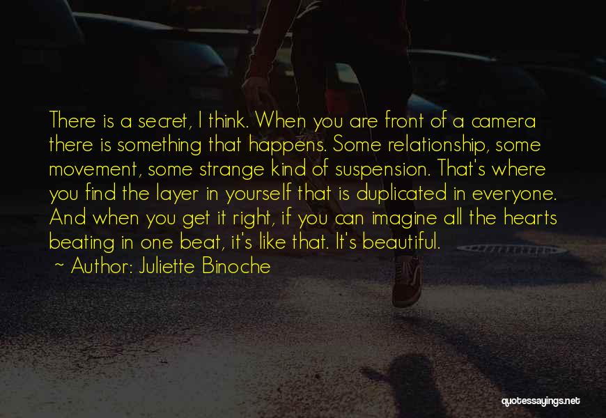 Secret Thinking Of You Quotes By Juliette Binoche