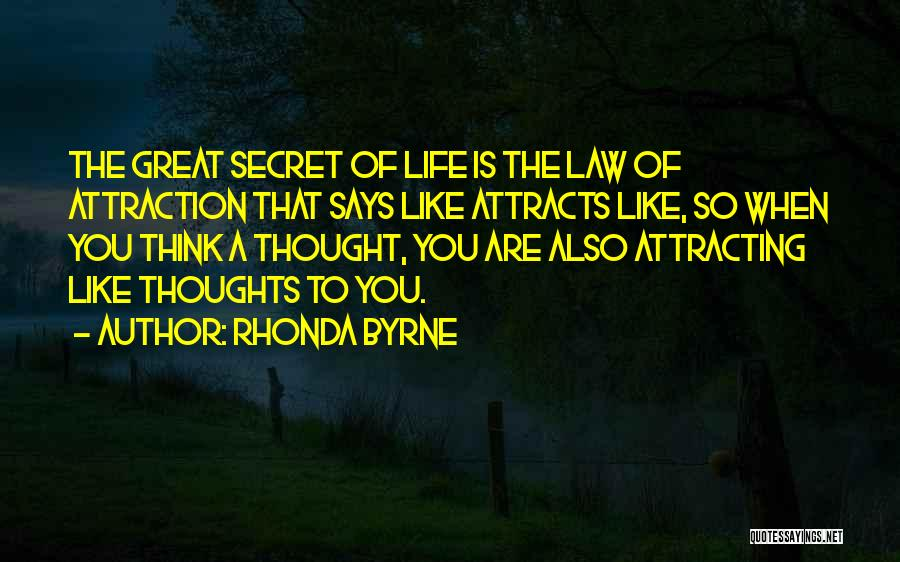 Secret Thinking Of You Quotes By Rhonda Byrne