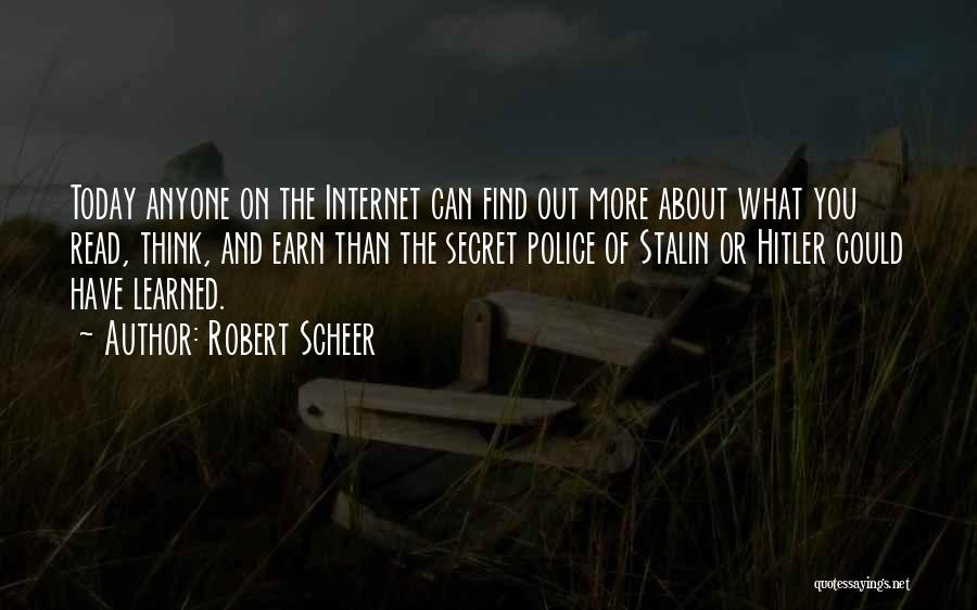 Secret Thinking Of You Quotes By Robert Scheer