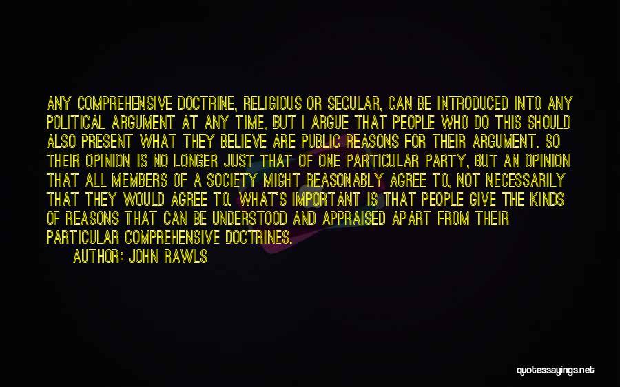 Secular Society Quotes By John Rawls