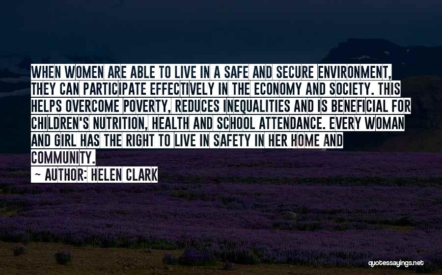 Secure Girl Quotes By Helen Clark