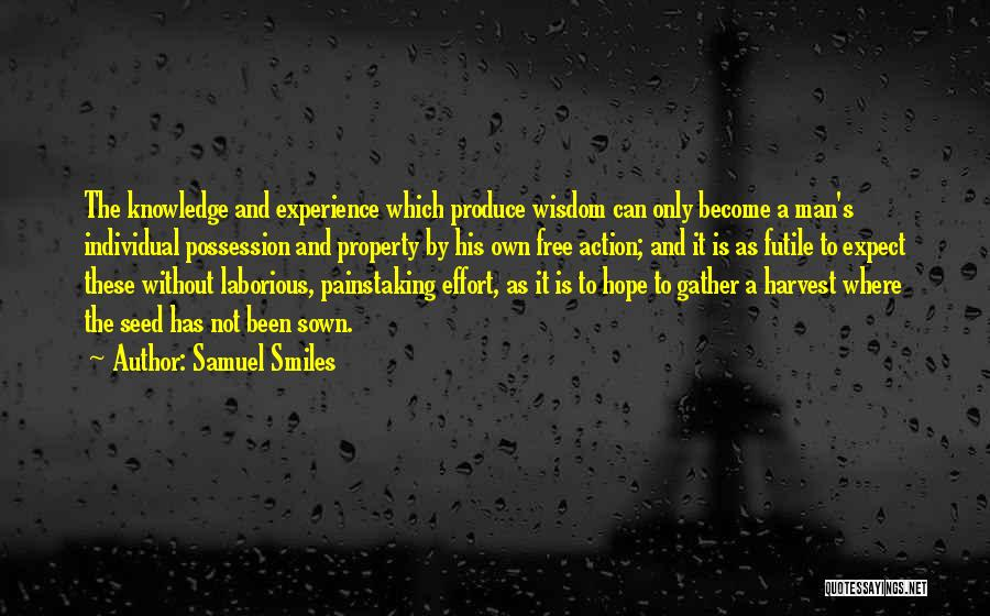 Seed Sown Quotes By Samuel Smiles