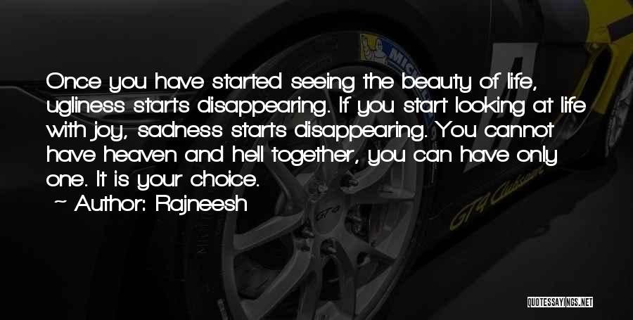 Seeing Beauty In Life Quotes By Rajneesh