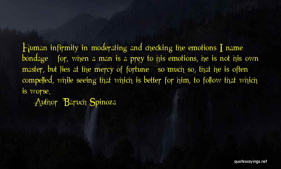 Seeing Him Quotes By Baruch Spinoza