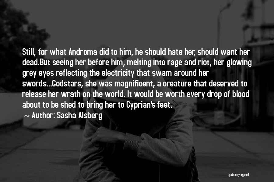 Seeing Him Quotes By Sasha Alsberg