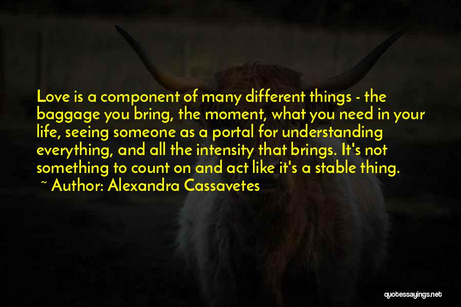 Seeing Someone You Love Quotes By Alexandra Cassavetes