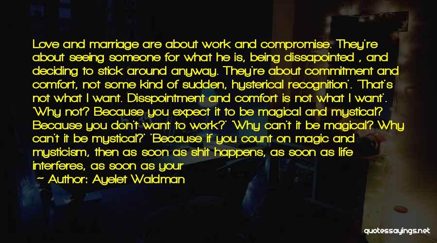 Seeing Someone You Love Quotes By Ayelet Waldman