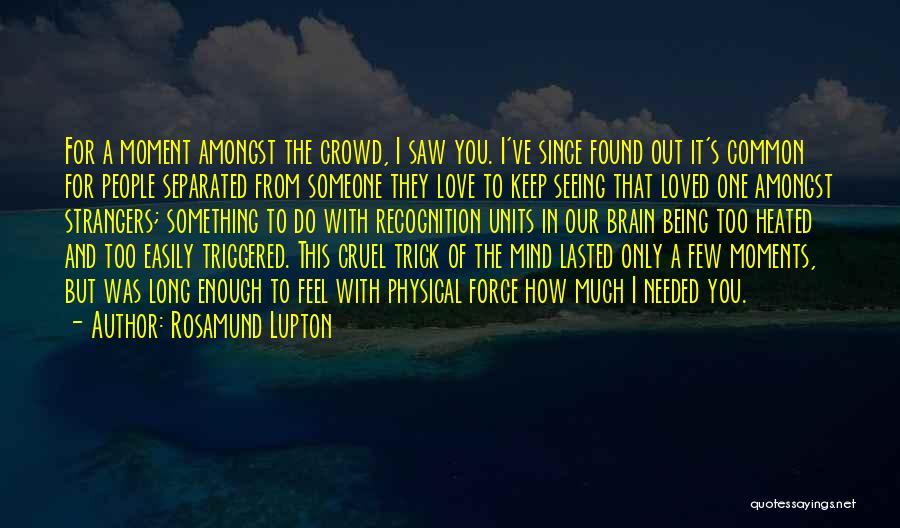 Seeing Someone You Love Quotes By Rosamund Lupton