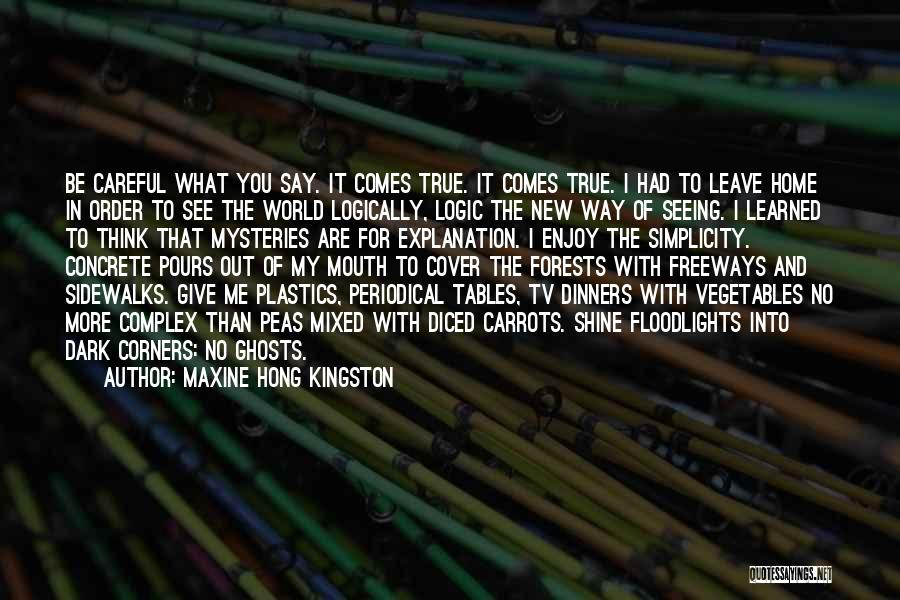 Seeing The World Quotes By Maxine Hong Kingston