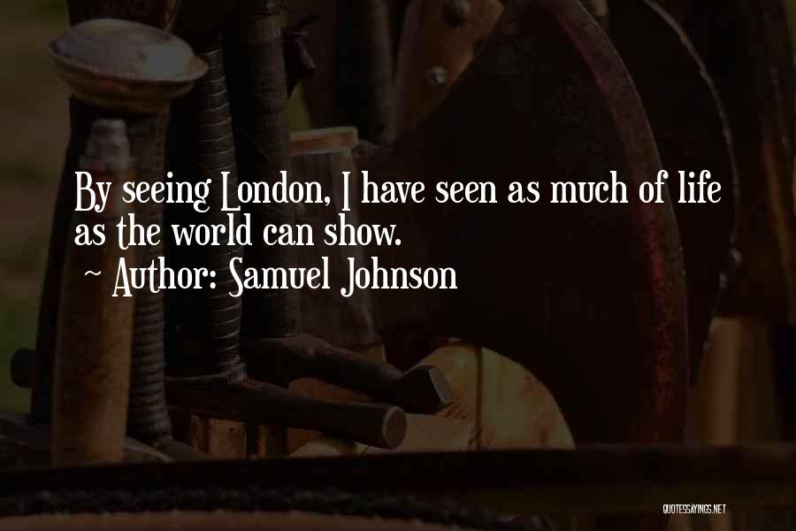Seeing The World Quotes By Samuel Johnson