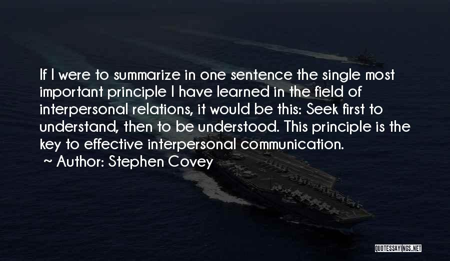 Seek First To Understand Quotes By Stephen Covey
