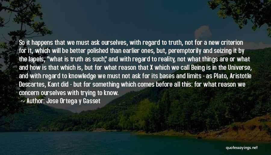 Seizing Quotes By Jose Ortega Y Gasset