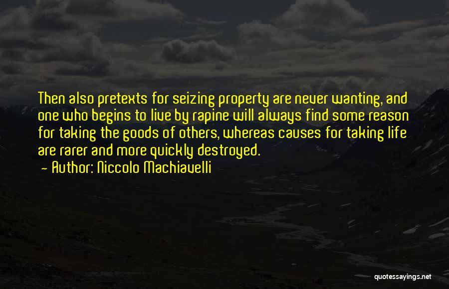 Seizing Quotes By Niccolo Machiavelli