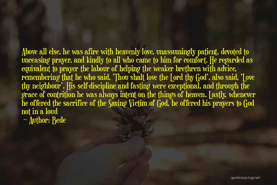 Self And God Quotes By Bede
