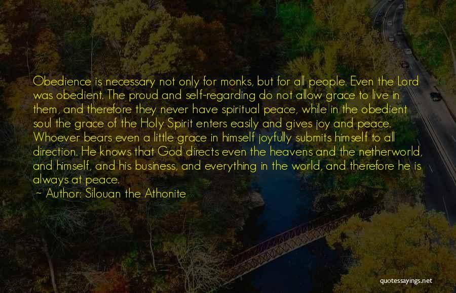 Self And God Quotes By Silouan The Athonite