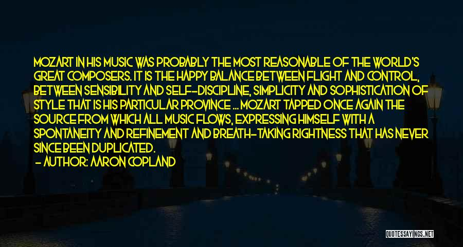 Self And Music Quotes By Aaron Copland