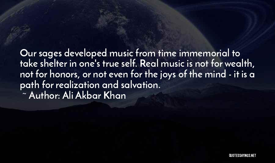 Self And Music Quotes By Ali Akbar Khan