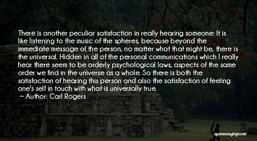 Self And Music Quotes By Carl Rogers