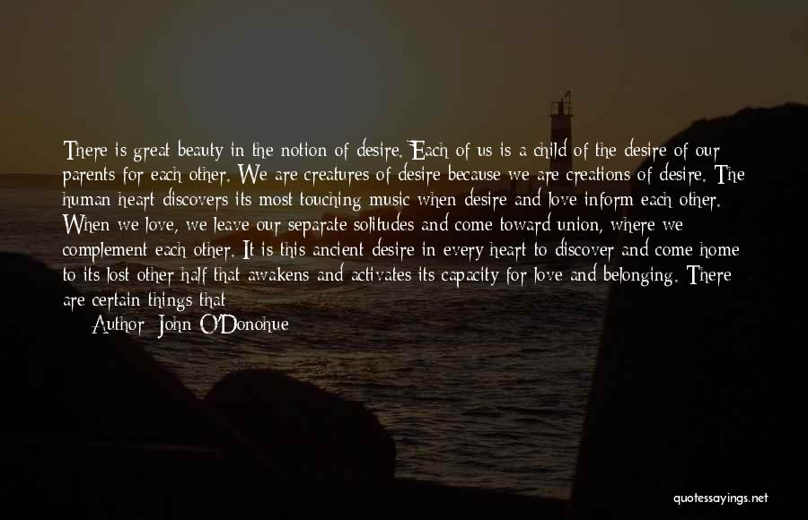 Self And Music Quotes By John O'Donohue