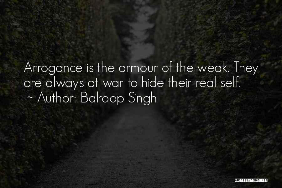 Self Attitude Quotes By Balroop Singh