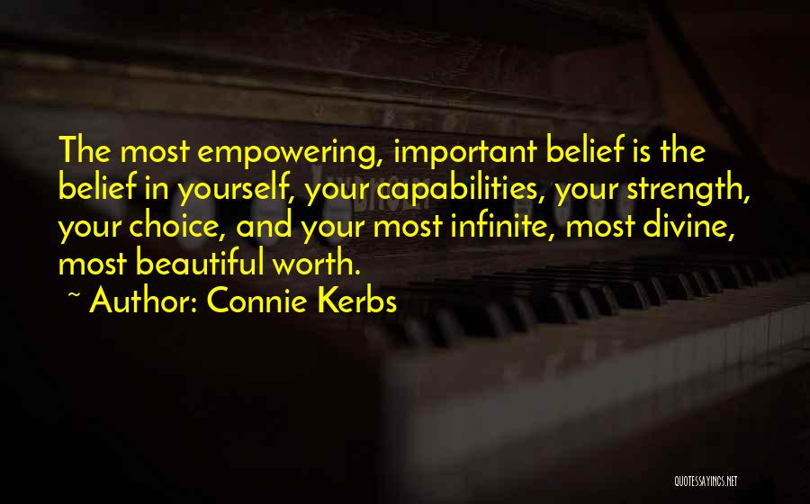 Self Attitude Quotes By Connie Kerbs