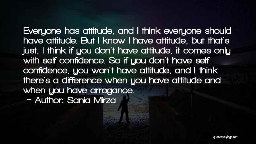 Self Attitude Quotes By Sania Mirza