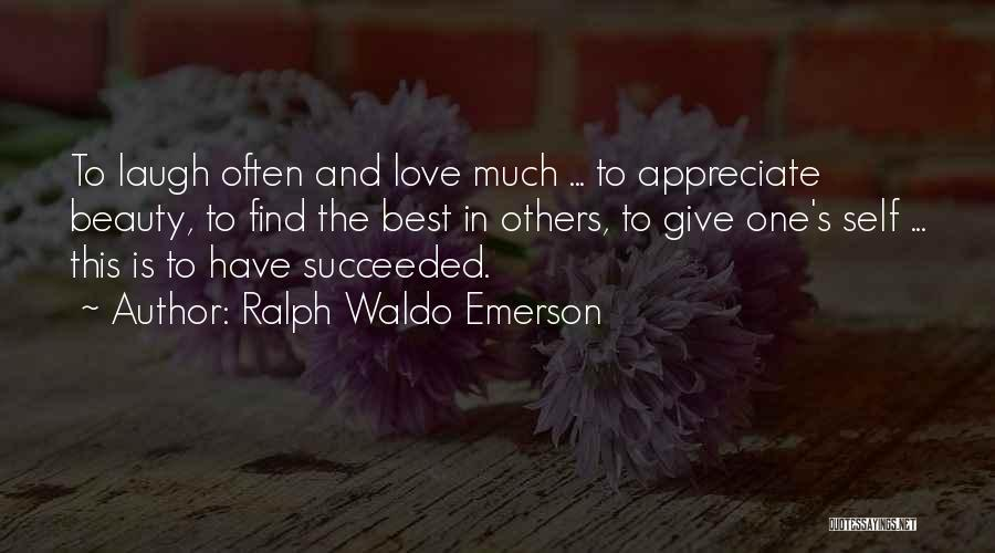 Self Beauty Quotes By Ralph Waldo Emerson