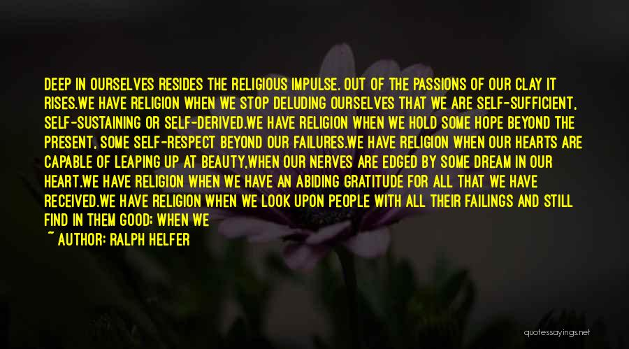 Self Confidence And Beauty Quotes By Ralph Helfer