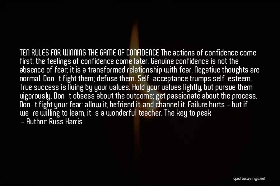 Self Confidence And Self Esteem Quotes By Russ Harris