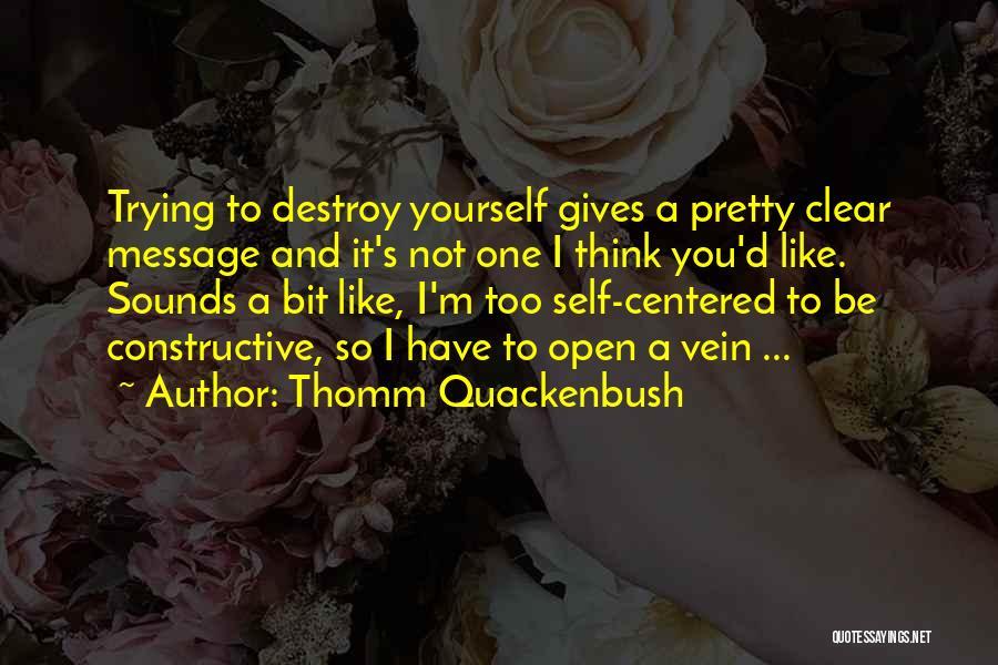 Self Constructive Quotes By Thomm Quackenbush
