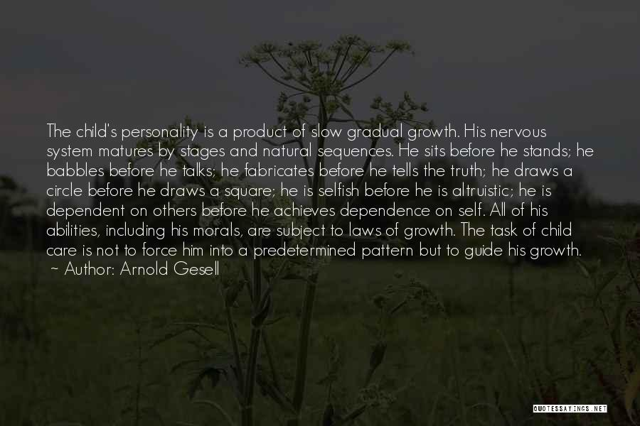 Self Dependent Quotes By Arnold Gesell