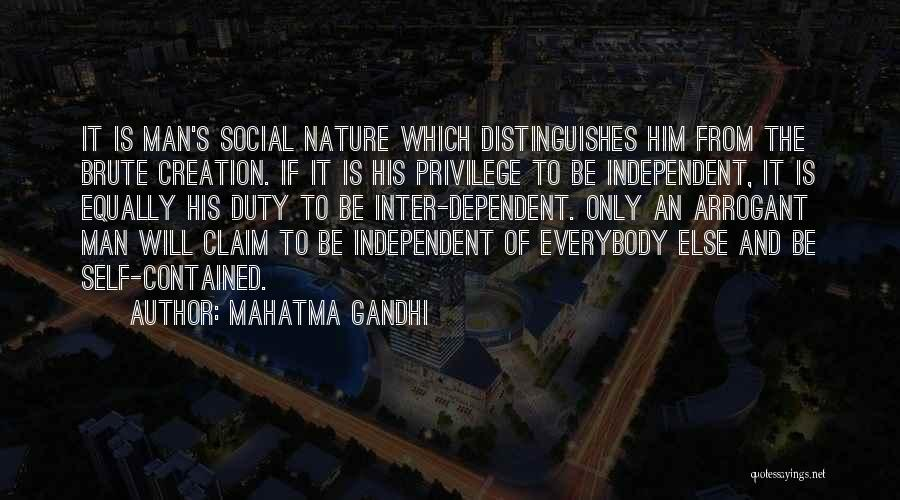 Self Dependent Quotes By Mahatma Gandhi