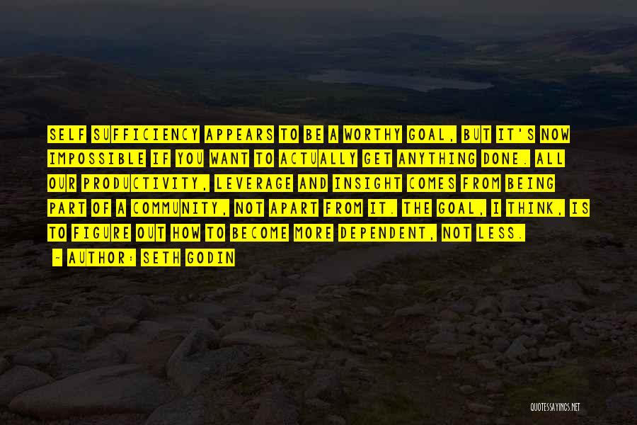 Self Dependent Quotes By Seth Godin