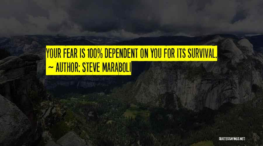 Self Dependent Quotes By Steve Maraboli