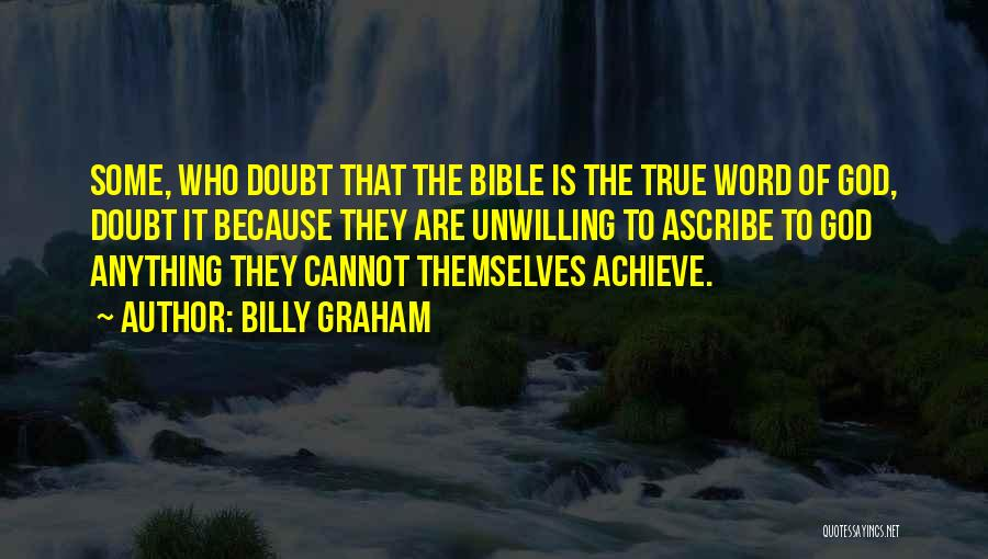 Self Doubt Bible Quotes By Billy Graham