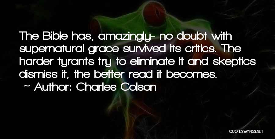 Self Doubt Bible Quotes By Charles Colson