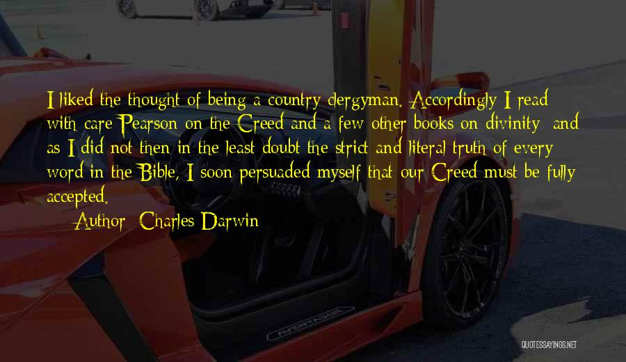 Self Doubt Bible Quotes By Charles Darwin