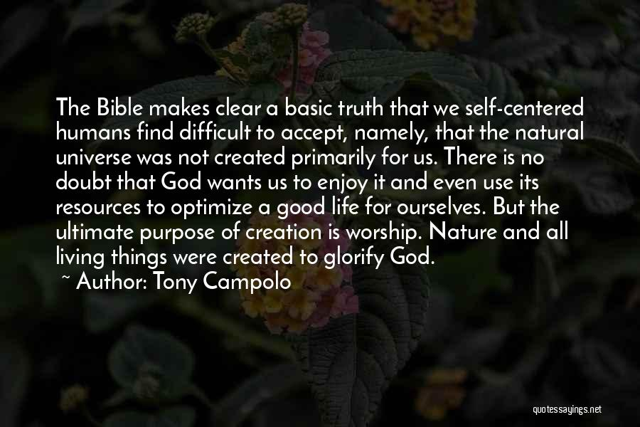 Self Doubt Bible Quotes By Tony Campolo