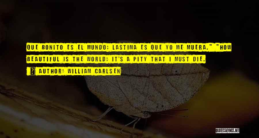 Self Es Quotes By William Carlsen