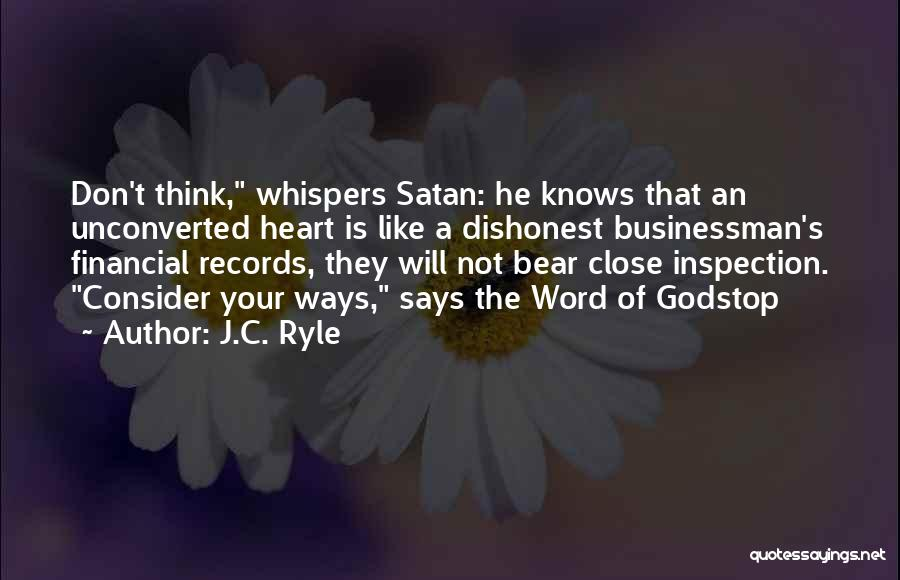 Self Inspection Quotes By J.C. Ryle