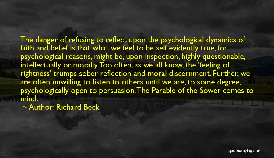 Self Inspection Quotes By Richard Beck