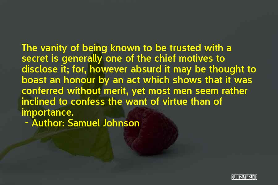 Self Motives Quotes By Samuel Johnson
