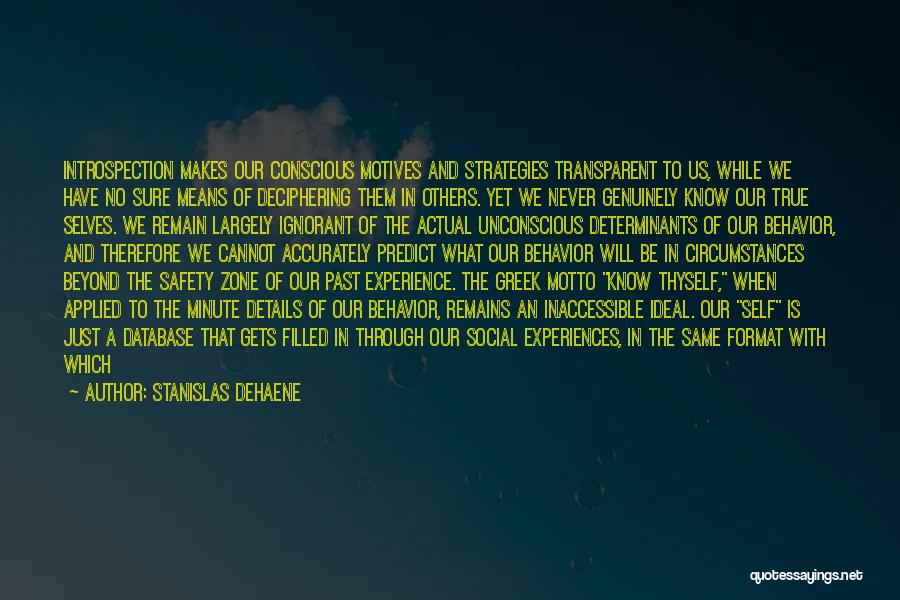 Self Motives Quotes By Stanislas Dehaene